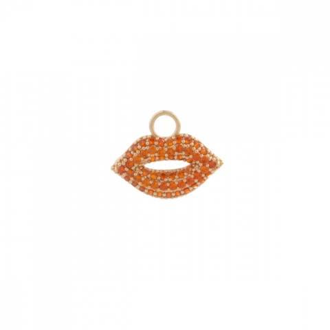 Bilde av NORA NORWAY - Pendant Ear Kiss Orange