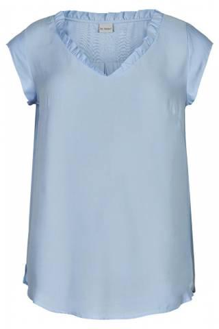 Bilde av IN FRONT - Bluse Megan V-Neck Light Blue