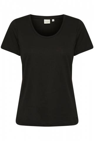 Bilde av CREAM - T-skjorte Naia O-Neck Pitch Black