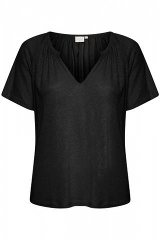 Bilde av CREAM - T-Shirt Luna Pitch Black