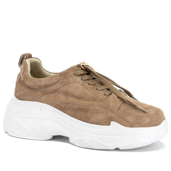 BIBBA - Taupe Chunky Sneakers