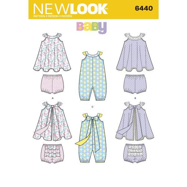 New Look 6440 Kjole, romper og bloomer