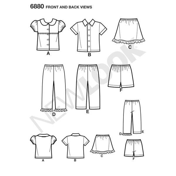 New Look 6880 Skjorte, bukse, shorts og skjørt