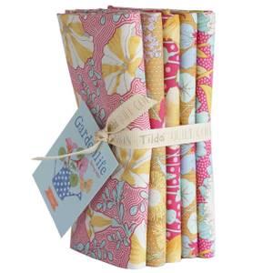Bilde av Tilda Gardenlife - Mustard/Pink Stoffpakke 5 stk (50x55cm)