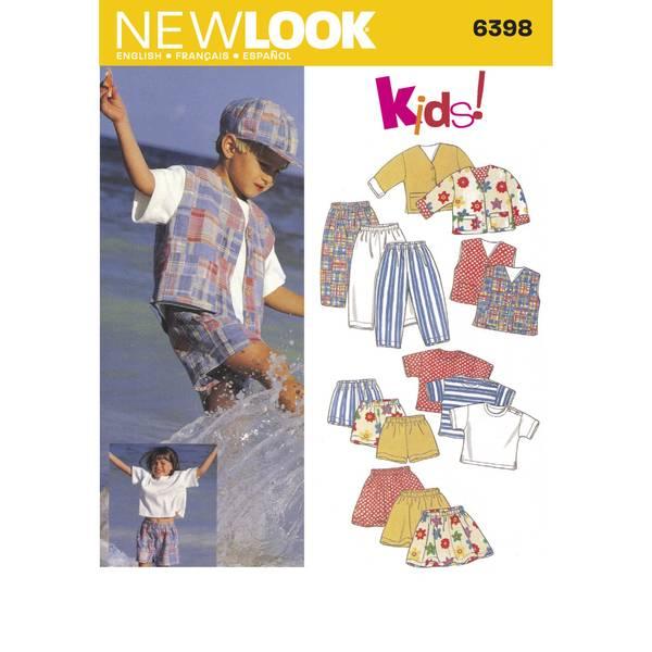 New Look 6398 Jakke, vest, bukse, shorts, t-skjorte og skjørt