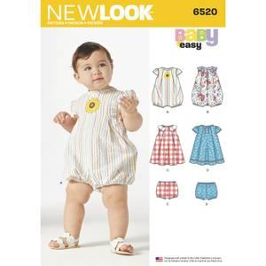 Bilde av New Look 6520 Romper, kjole og bloomer