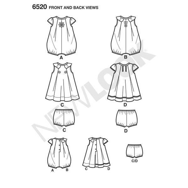 New Look 6520 Romper, kjole og bloomer