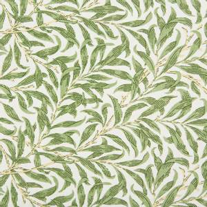 Bilde av Ramas bladmønster - grønn og naturhvit