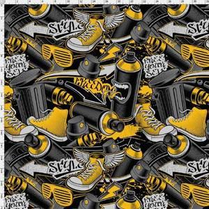 Bilde av Jersey - urban, grafitti og sko gul