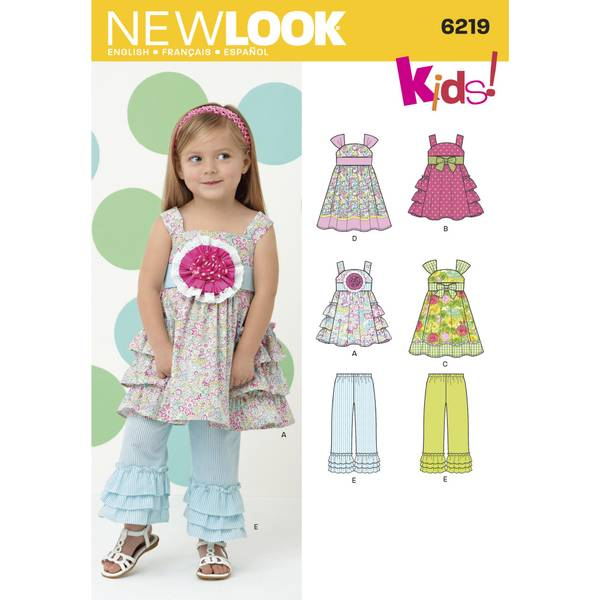New Look 6219 Kjole og bukse med volanger