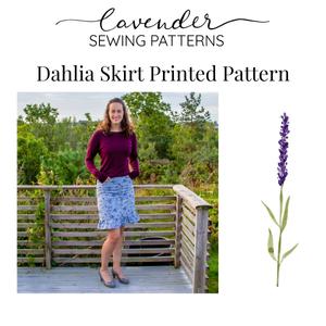 Bilde av Lavender Sewing Patterns - Dahlia Skirt
