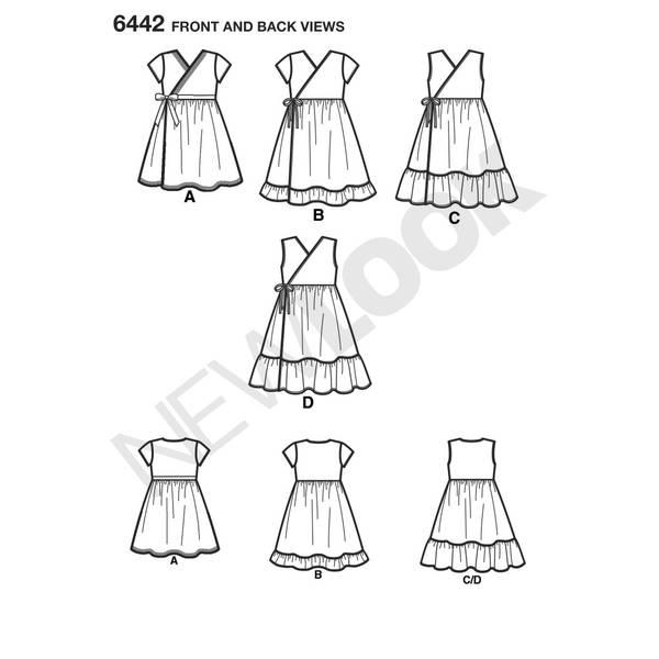 New Look 6442 Kjole med omslag