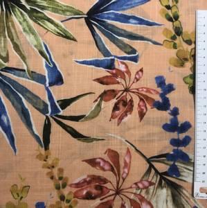 Bilde av Bomull og viscose fargerike blader fersken