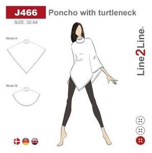 Bilde av Line2Line J466 Poncho med krage