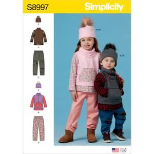 Bilde av Simplicity S8997 Genser, bukse og lue