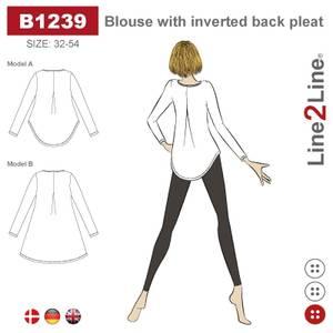 Bilde av Line2Line B1239 Bluse med wienerlegg i ryggen - stretch stoff
