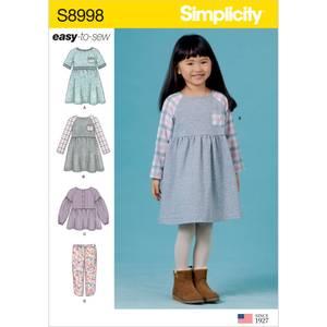 Bilde av Simplicity S8998 Kjole, topp og bukse