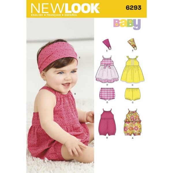 New Look 6293 Kjole, romper, bloomer og hårbånd