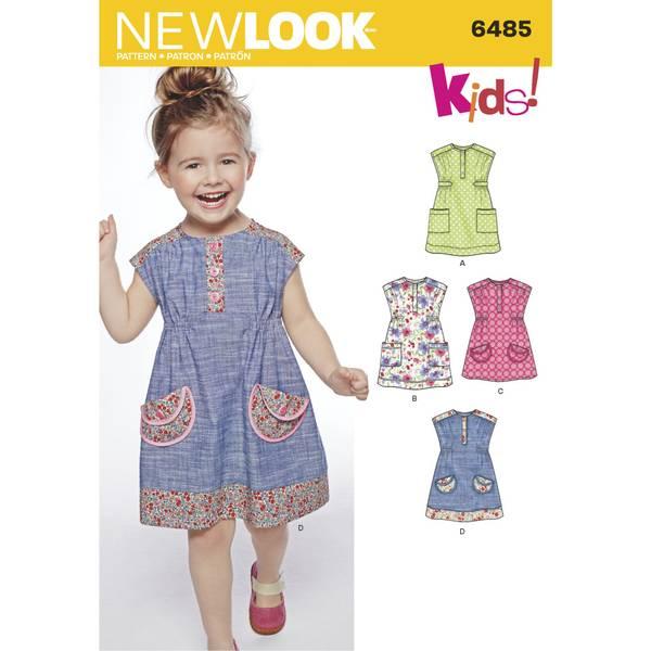 New Look 6485 Kjole og tunika med lommer