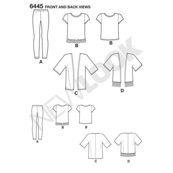 New Look 6445 Kimono, topp og leggings