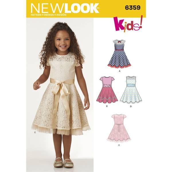 New Look 6359 Penkjole med blonder