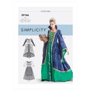 Bilde av Simplicity S9166 Kostyme kjole