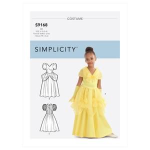 Bilde av Simplicity S9168 Prinsesse kostyme til barn
