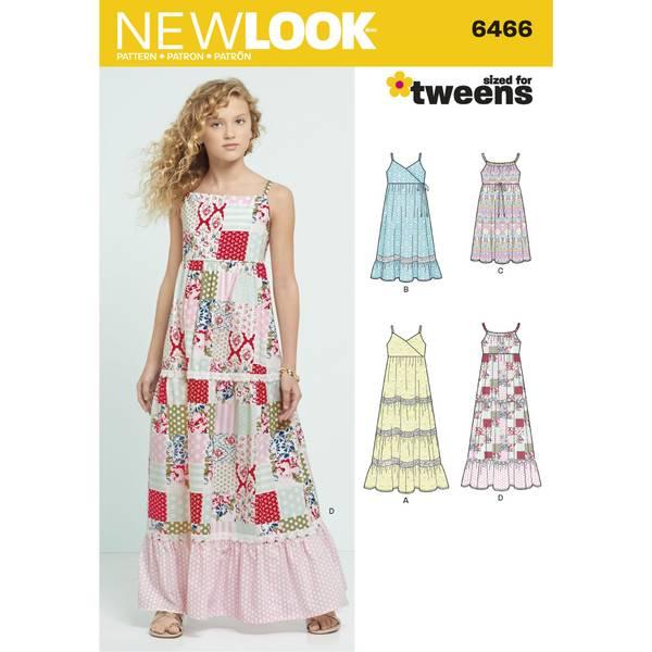 New Look 6466 Kjole med lengde variasjoner