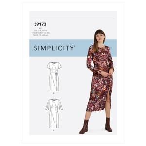 Bilde av Simplicity S9173 Kjole med variasjoner