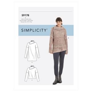 Bilde av Simplicity S9178 Tunika og genser