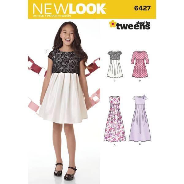 New Look 6427 Penkjole med lengde variasjoner