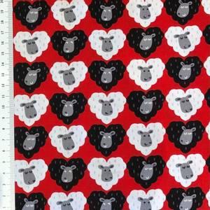 Bilde av Bomull - Sauer I love ewe- rød, sort og grå