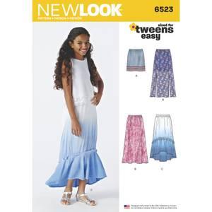 Bilde av New Look 6523 Skjørt med lengde variasjoner