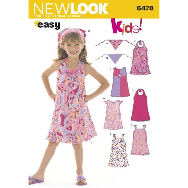 New Look 6478 Kjole og skaut