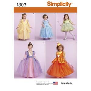 Bilde av Simplicity 1303 Kostyme til barn