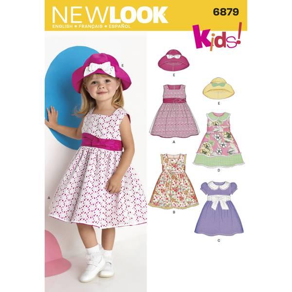 New Look 6879 Penkjole og hatt