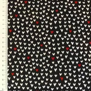 Bilde av Bomull - hjerter hvite og røde- Heart stitch