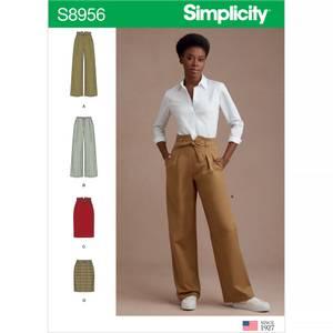 Bilde av Simplicity S8956 Bukse med knyting og skjørt