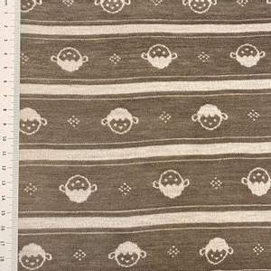 Bilde av Strikket Ull, tynn jaquard - brun med sau