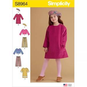 Bilde av Simplicity S8964 Topp, kjole, bukse og beret