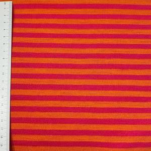 Bilde av Strikket Ull, tynn jaquard - striper rosa og oransj
