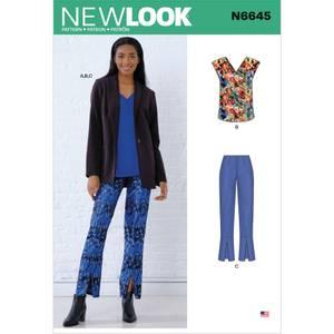 Bilde av New Look N6645 Jakke, topp og bukser
