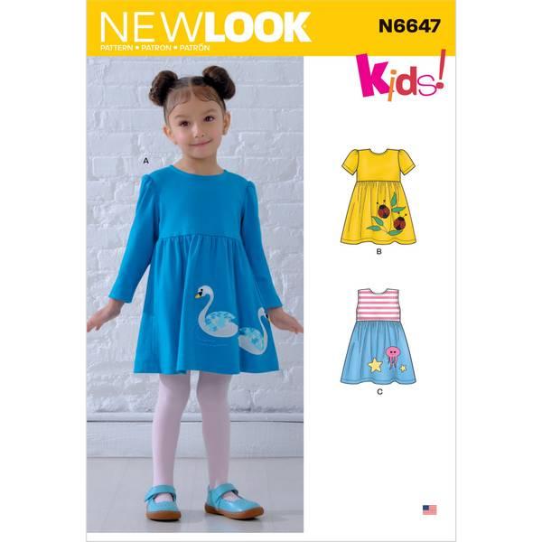 New Look N6647 Kjole med applikasjon