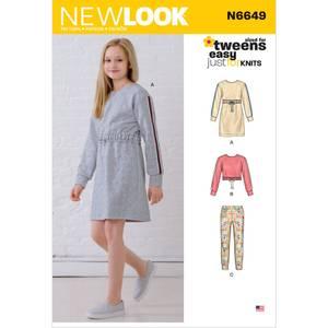 Bilde av New Look N6649 Kjole, topp og bukser