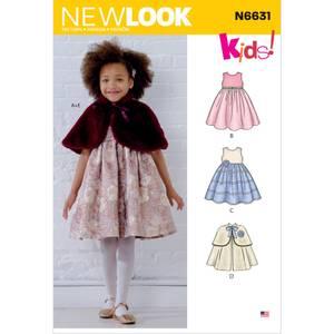 Bilde av New Look N6631 Penkjole og cape