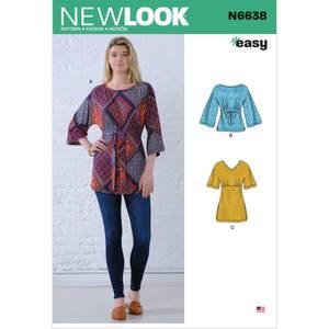 Bilde av New Look N6638 Topp med knyting