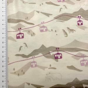 Bilde av Strikket Ull, tynn jaquard - fjelltur beige og rosa