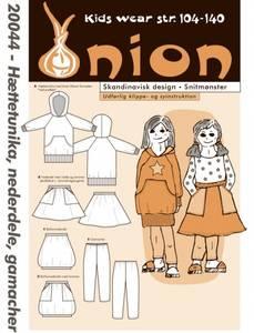 Bilde av Onion 20044 hettegenser, tights og skjørt