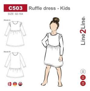 Bilde av Line2Line C503 Kjole med volanger til barn