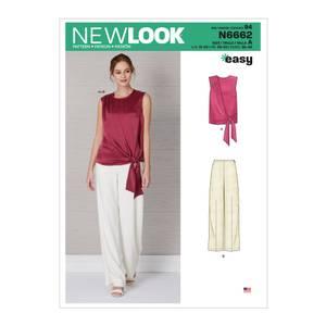 Bilde av New Look N6662 Bukse og bluse med knyting